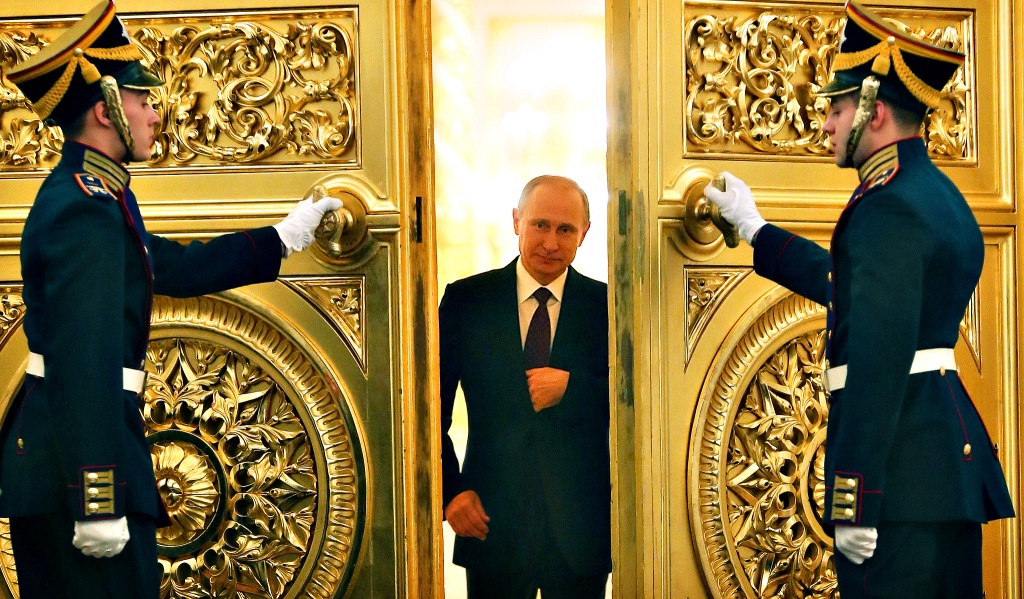 Russian President Vladimir Putin enters ...Russian President Vladimir Putin enters the St. George Hall of the Grand Kremlin Palace in Moscow, on December 12, 2013, to deliver an annual state of the nation address. AFP PHOTO/  POOL/ SERGEI ILNITSKYSERGEI ILNITSKY/AFP/Getty Images